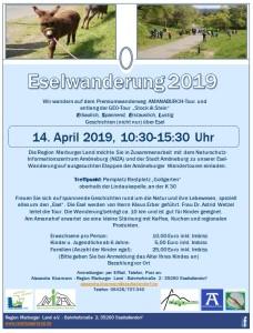 Eselwanderung auf der Amanaburch-Tour @ Treffpunkt: Am Rastplatz (Gollgarten) Amöneburg