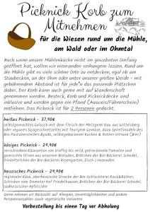 Brücker Mühle _ Flyer Picknick-Korb Sommer 2020